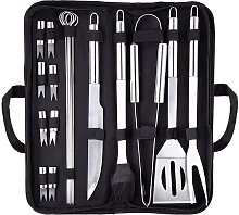 LangRay Grill Cutlery Set, 18 Piece Grill Tool