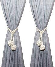 LangRay Handmade Curtain Tiebacks Cotton Rope