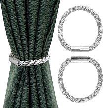 LangRay Magnetic Curtain Tieback, 2 Piece Curtain