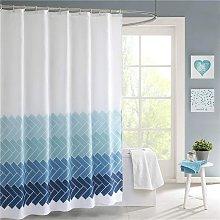 LangRay Mildew Proof Fabric Shower Curtain