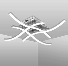 LangRay Modern LED Ceiling Light, Wave Shaped