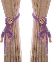 LangRay Monkey Pattern Nursery Curtain Hooks - 2