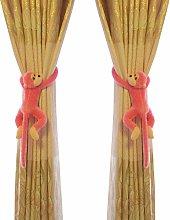 LangRay Monkey Pattern Nursery Curtain Hooks, 2