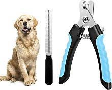 LangRay Nail Clippers and Nail File for Dogs with