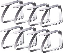 Langray - Pack of 8 tablecloth clips, stainless