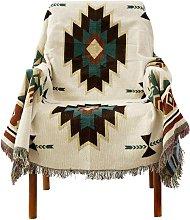LangRay Plaid, American Ethnic Style Sofa Cover,