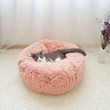 Langray - Round Plush Basket for Cat and Dog Donut