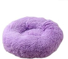 LangRay Round Plush Cat Basket for Pet Cats and