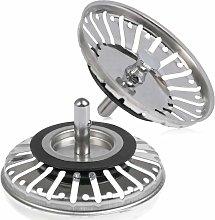Langray - Sink Strainer Plug 84mm, 2PCS Basket