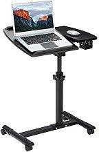 LANGRIA Portable Laptop Desk Cart with Tilting