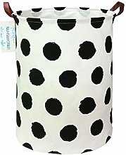 LANGYASHAN Storage Bin,Canvas Fabric Collapsible