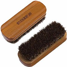 Lankater Horsehair Shoe Brush Polish Natural