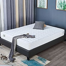 LANKOU Double Size Bed Frame, Mattress