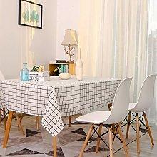 Lanqinglv Cotton Linen Tablecloth 130x180cm