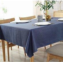 Lanqinglv Cotton Linen Tablecloth Wipe Clean,Plain