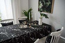 Lanqinglv Marble Black Tablecloths 140 x 200 cm