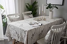 Lanqinglv Marble White Tablecloths 140 x 200 cm