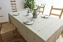 Lanqinglv Tassel Tablecloth 110x110cm Green