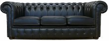 Lansdale Genuine Leather 3 Seater Chesterfield