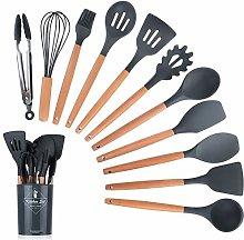 LANSONTECH Silicone Kitchen Utensil Set, 11 Piece