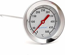 Lantelme stainless steel 500°C thermometer for