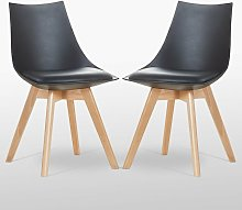 Lanzo Dining Chair (BLACK SET OF 2)