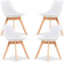 Lanzo Dining Chair (BLACK SET OF 4)