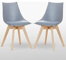 Lanzo Dining Chair (GREY SET OF 2)