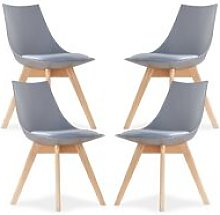 Lanzo Dining Chair (GREY SET OF 4)