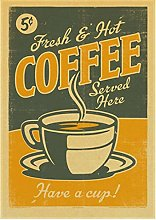 LAOYA Canvas Poster Classic Coffee Vintage Poster