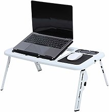 Lapdesks,Adjustable Bed Table Portable Standing