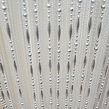 LAPOPNUT Beaded String Hanging Curtain with Dew Drop Plastic Beads Chain Panels Fringe Tassel for Partition Spaces Divider Door Wall Wedding Decor Home Decoration Curtains (100x200cm,White)