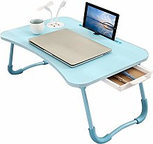 Laptop Bed Table, Foldable Lap Desk with 4 USB