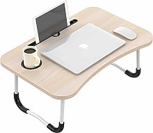 Laptop Bed Table, Foldable Lap Standing Desk with