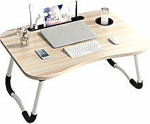 Laptop Bed Table, Foldable Portable Lap Desk with