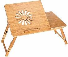 Laptop Desk,Bamboo Adjustable Lap Desks