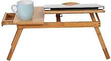 Laptop Desk,Bamboo Laptop Table Portable Computer