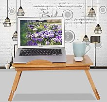 Laptop Desk,Folding Bamboo Computer Laptop Table