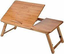 Laptop Desk,Portable Wooden Bamboo Computer Desk