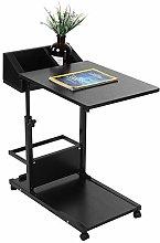 Laptop Desk with Storage Drawer Adjustable Height