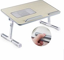 Laptop Stand Desk for Bed with Tablet Stand