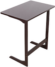 Laptop Stand L-shaped Bed Desk Bamboo Side Table