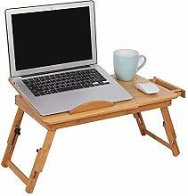 Laptop Table,Wooden Folding Laptop Desk Portable