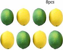LAQI Yellow and Green Artificial Fake Fruit Lemons