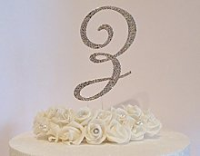 Large (12cm) Cake Decoration Letter. Silver