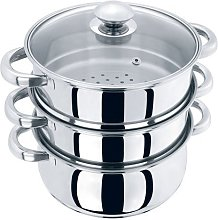 Large 3 Tier Stainless Steel Multi Food Cook Pot