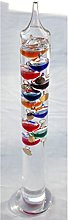 Large 44cm tall Free standing Galileo thermometer