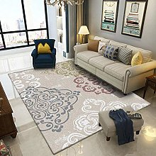 Large Area Living Room Rug White blue red green