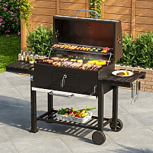 Large BBQ Grills Stove Trolley Barbecue Cart Built