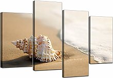 Large Beige Bathroom Canvas Wall Art Pictures